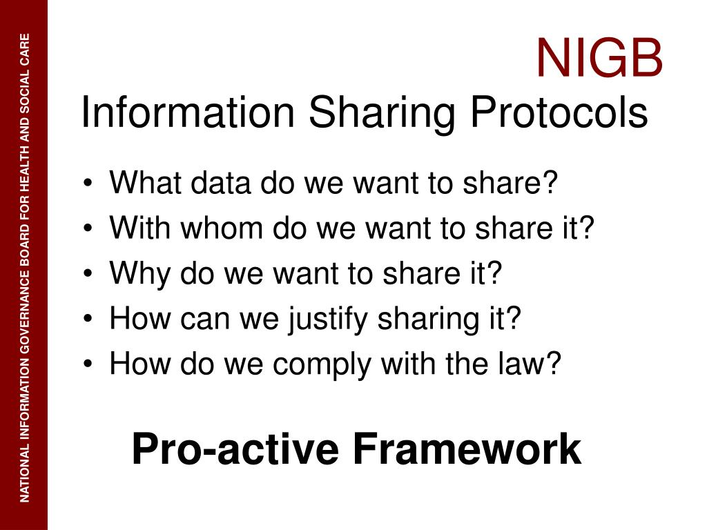 What data do we want to share?