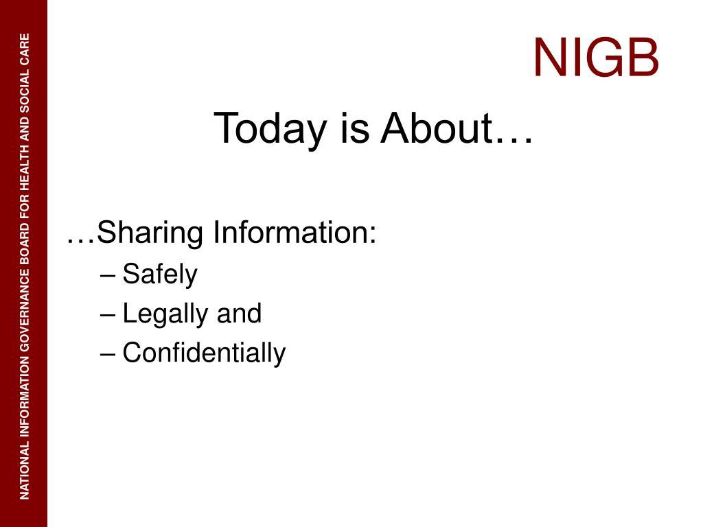 …Sharing Information: