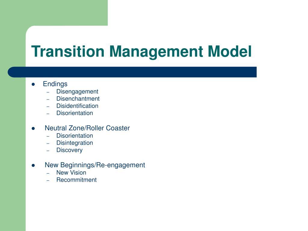 Transition Management Model