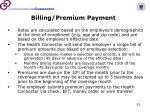 billing premium payment