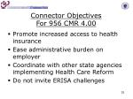 connector objectives for 956 cmr 4 00