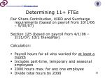 determining 11 ftes