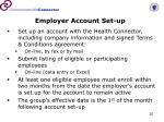 employer account set up