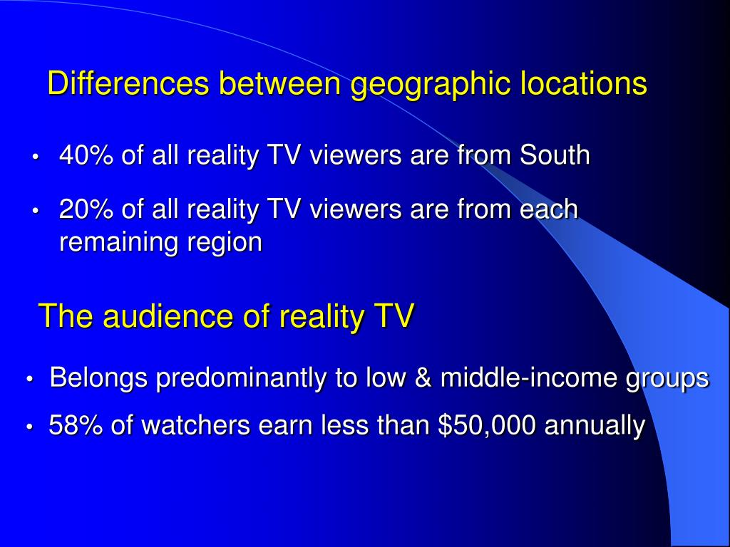 Differences between geographic locations