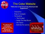 the coke website