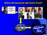 where did american idol come from