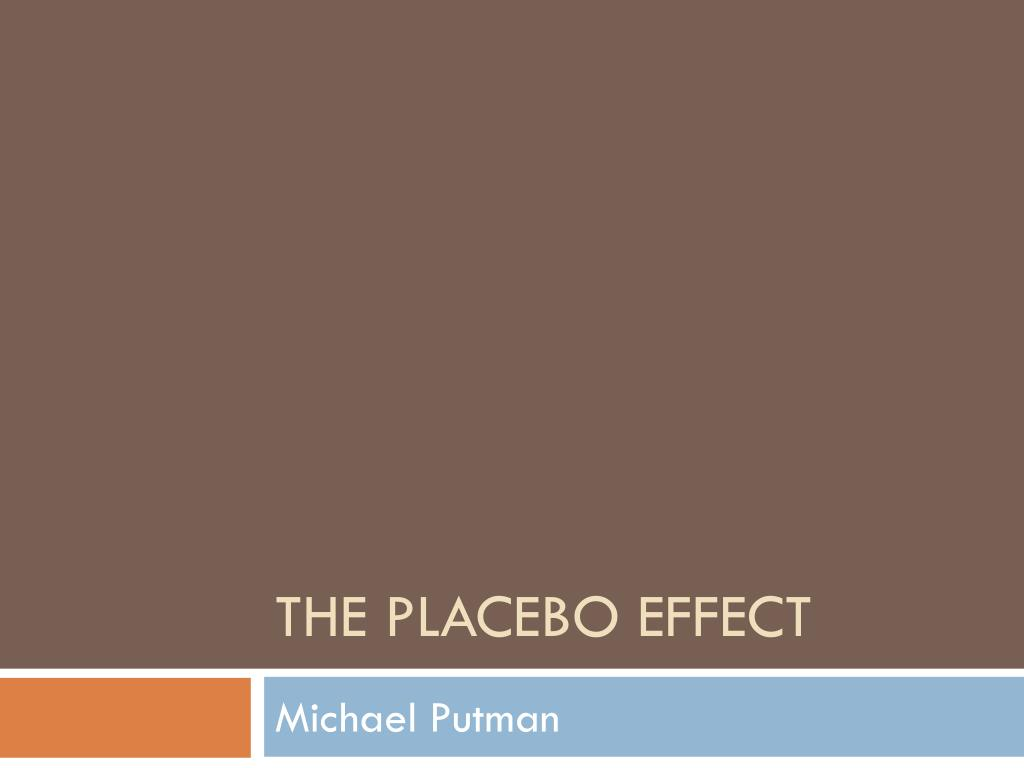 the placebo effect l.