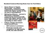 resident centered nursing home care for frail elders