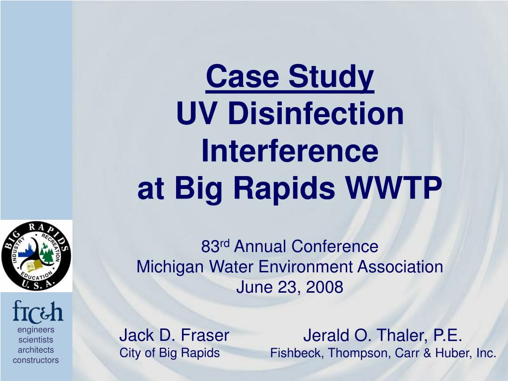 case study uv disinfection interference at big rapids wwtp