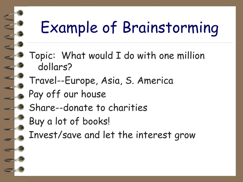 Example of Brainstorming