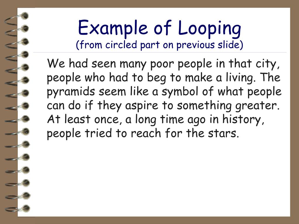 Example of Looping