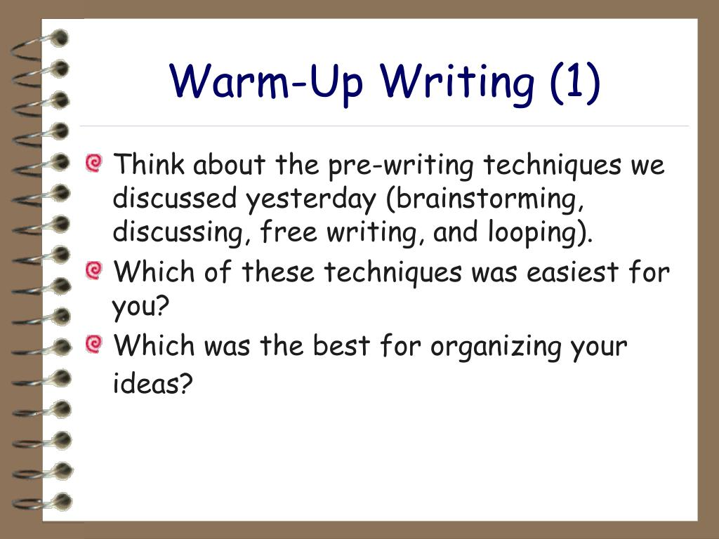 Warm-Up Writing (1)