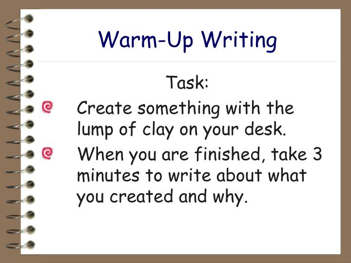 Warm up writing