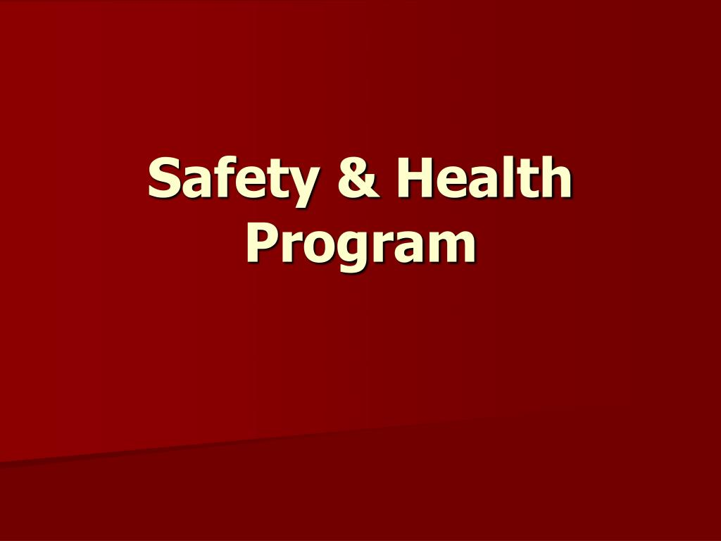 safety health program l.