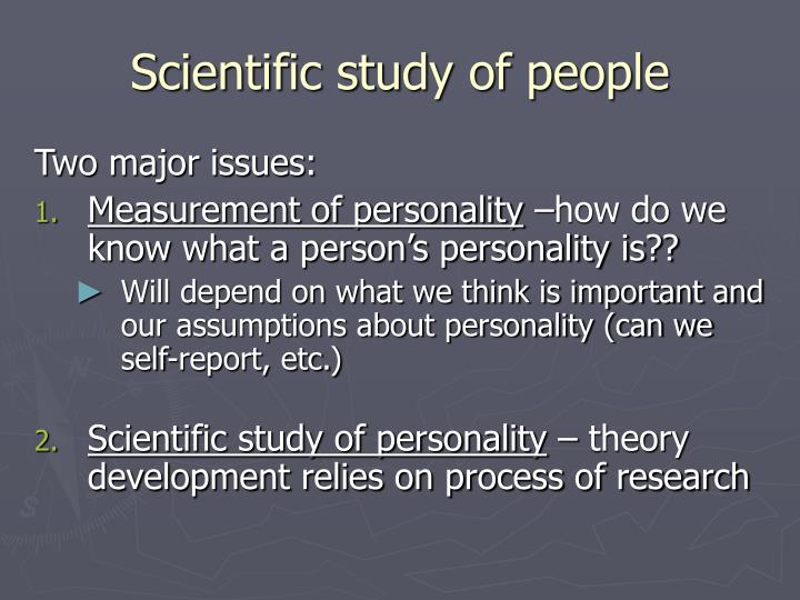 Scientific study of people