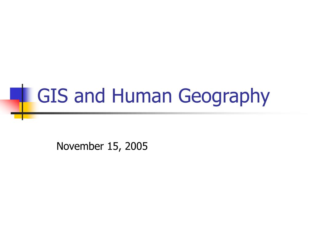gis and human geography