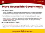 more accessible government