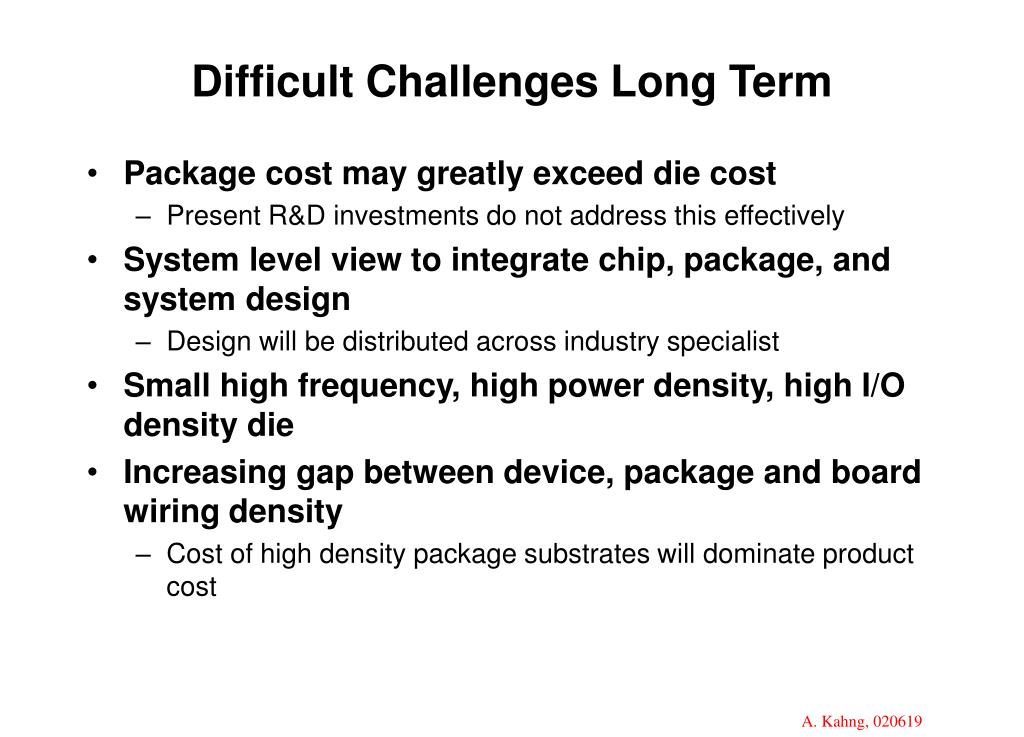 Difficult Challenges Long Term