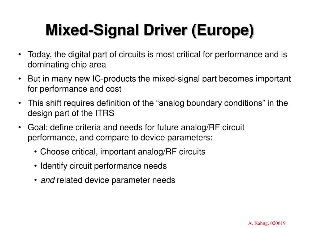 Mixed-Signal Driver (Europe)