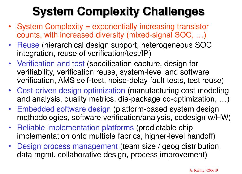 System Complexity Challenges