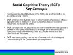 social cognitive theory sct key concepts