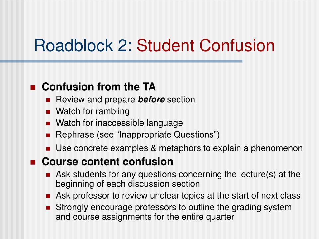 Roadblock 2:
