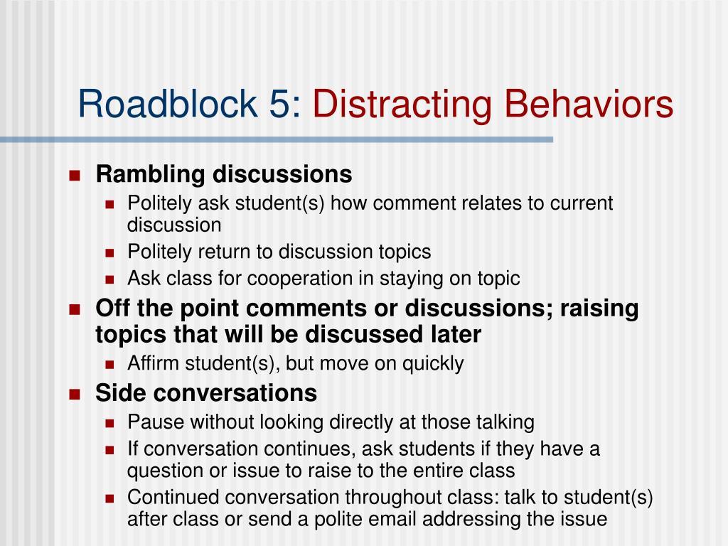Roadblock 5: