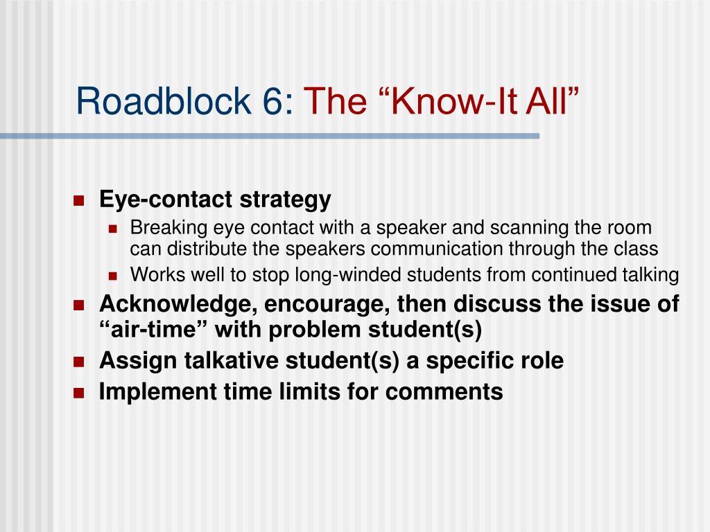 Roadblock 6: