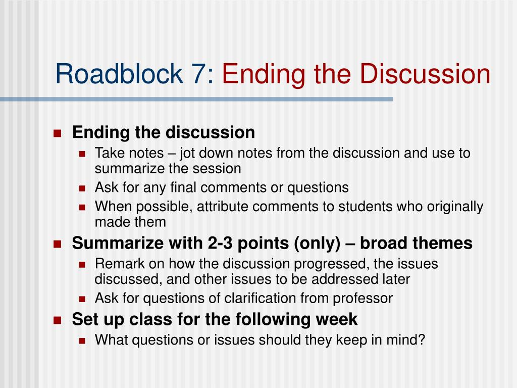Roadblock 7: