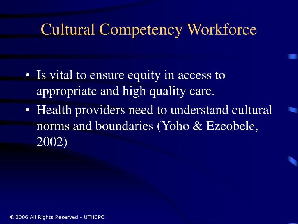 Cultural Competency Workforce