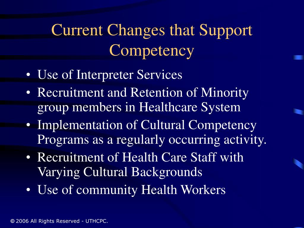 Current Changes that Support Competency