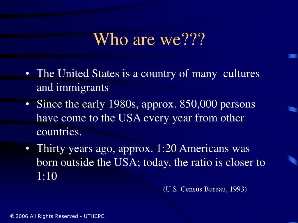 Who are we???