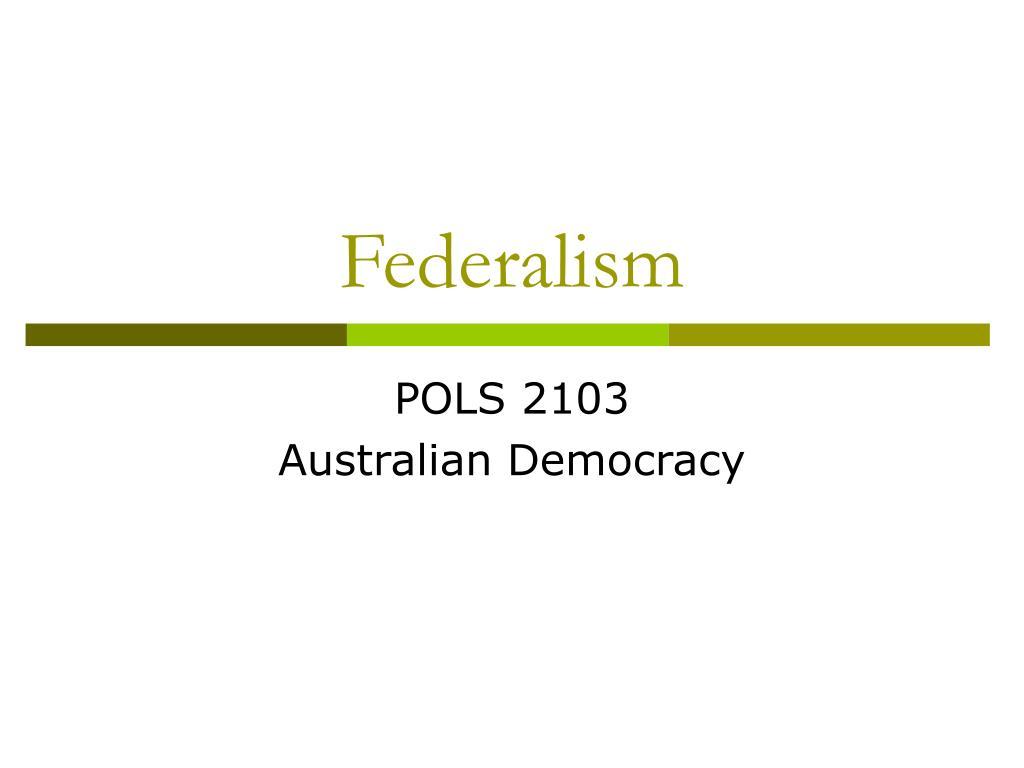 federalism l.
