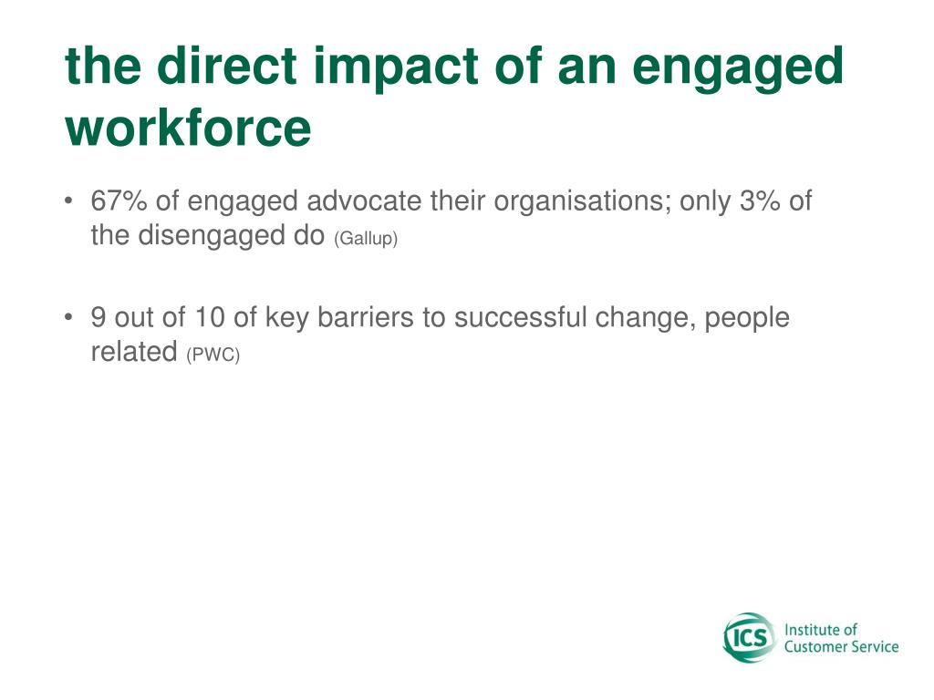 the direct impact of an engaged workforce