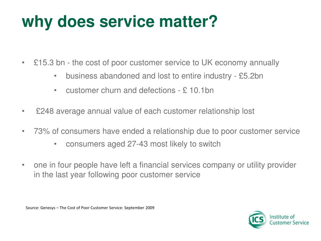 why does service matter?