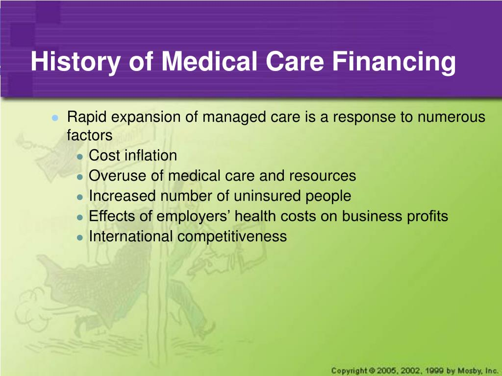 History of Medical Care Financing