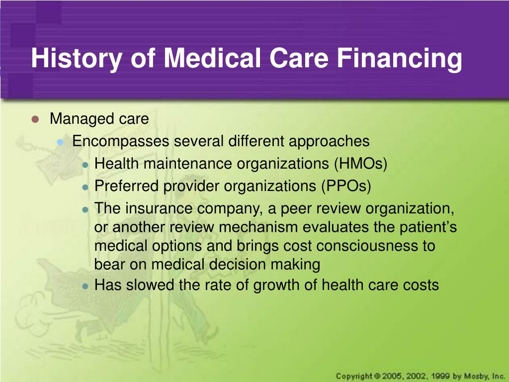 PPT - Chapter 6 Financing Health Care and Economic Issues