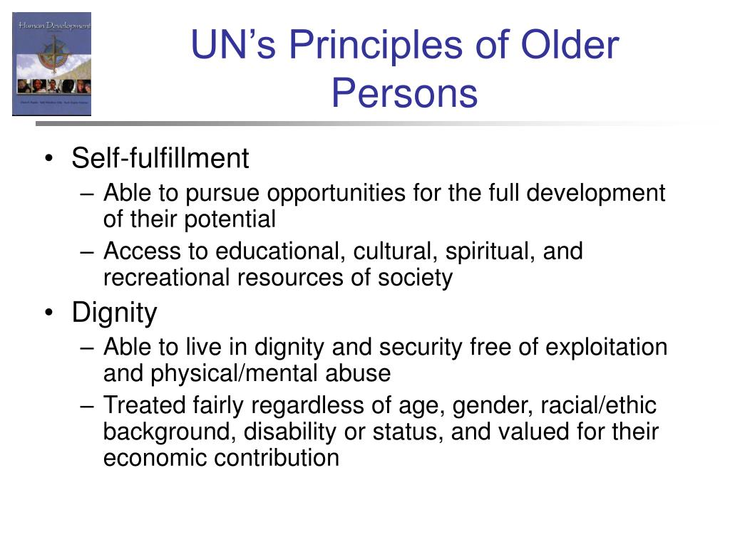 UN's Principles of Older Persons