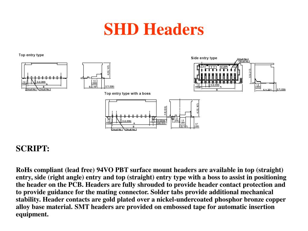 SHD Headers