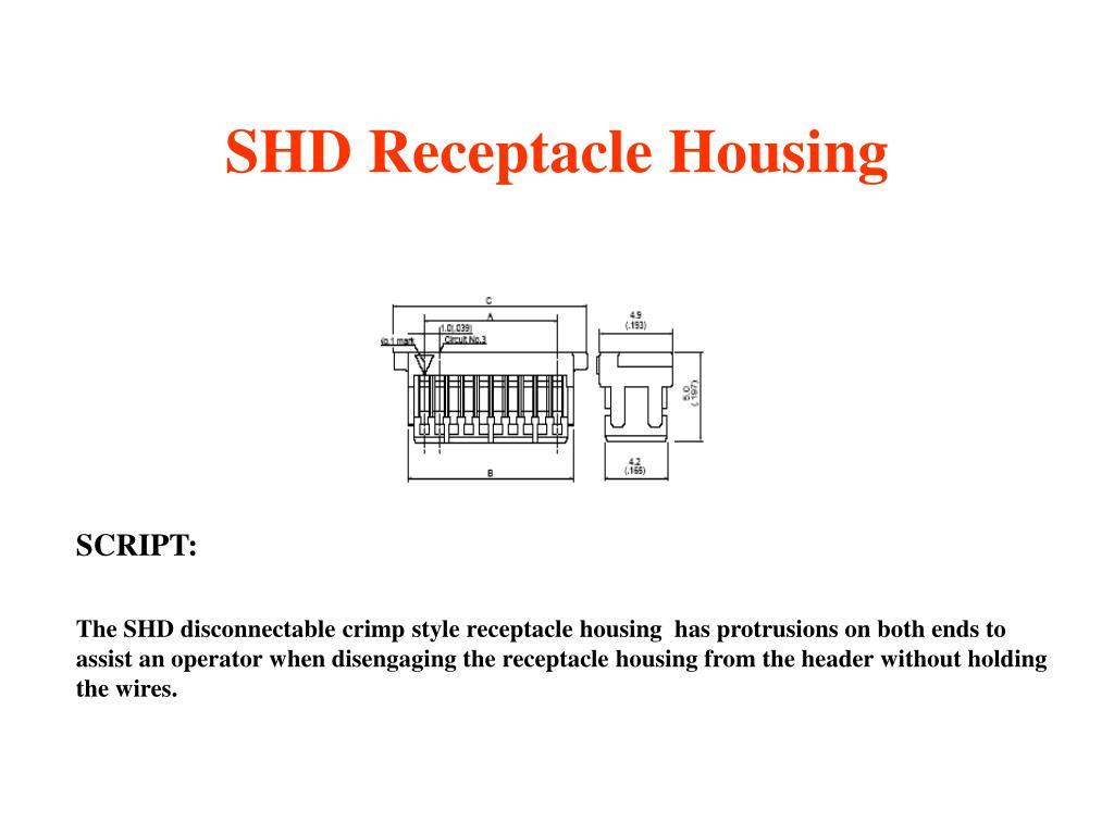 SHD Receptacle Housing