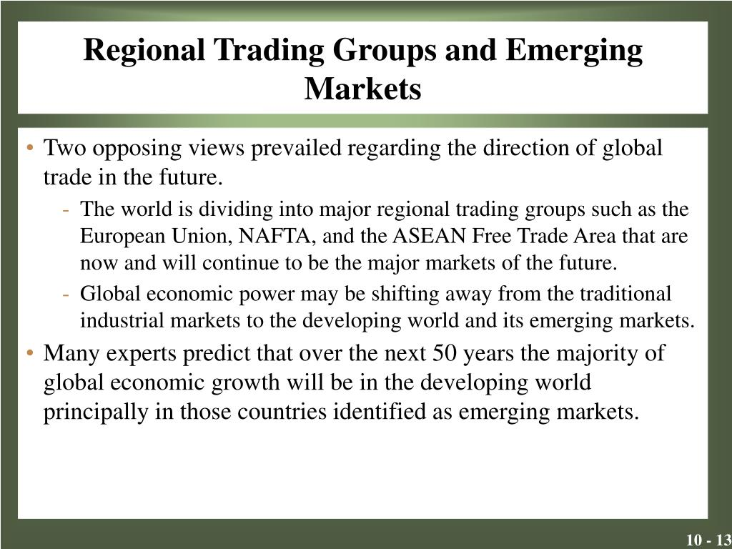 Regional Trading Groups and Emerging Markets