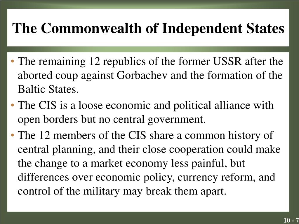The Commonwealth of Independent States
