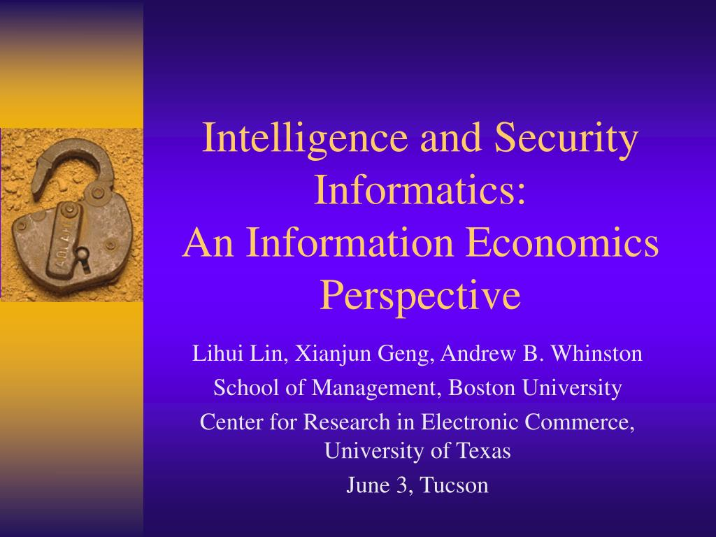 Intelligence and Security Informatics: