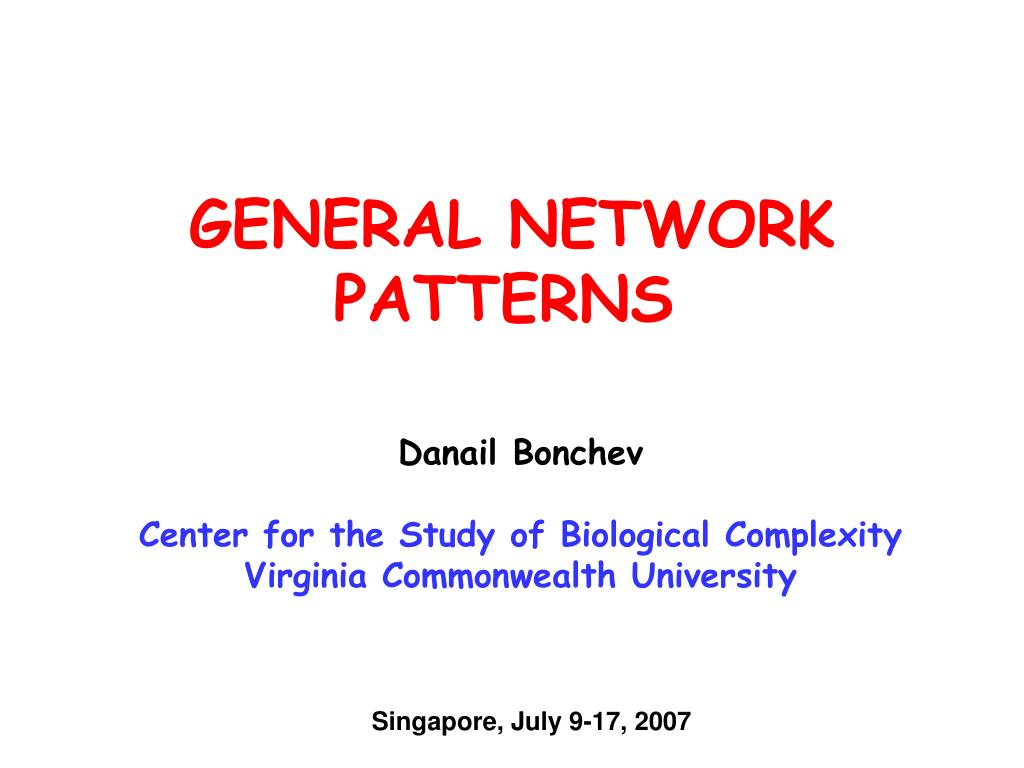 general network patterns l.