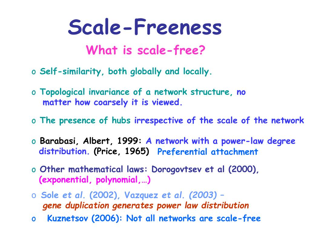Scale-Freeness