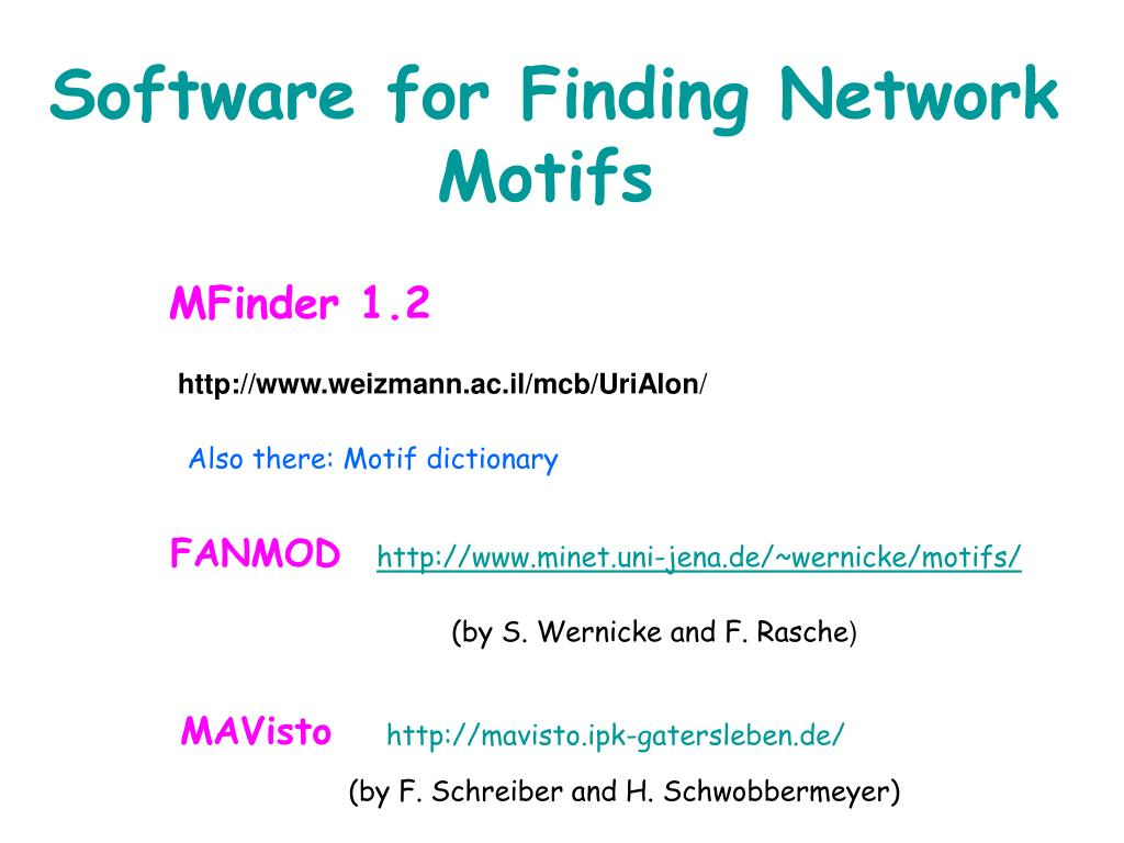Software for Finding Network