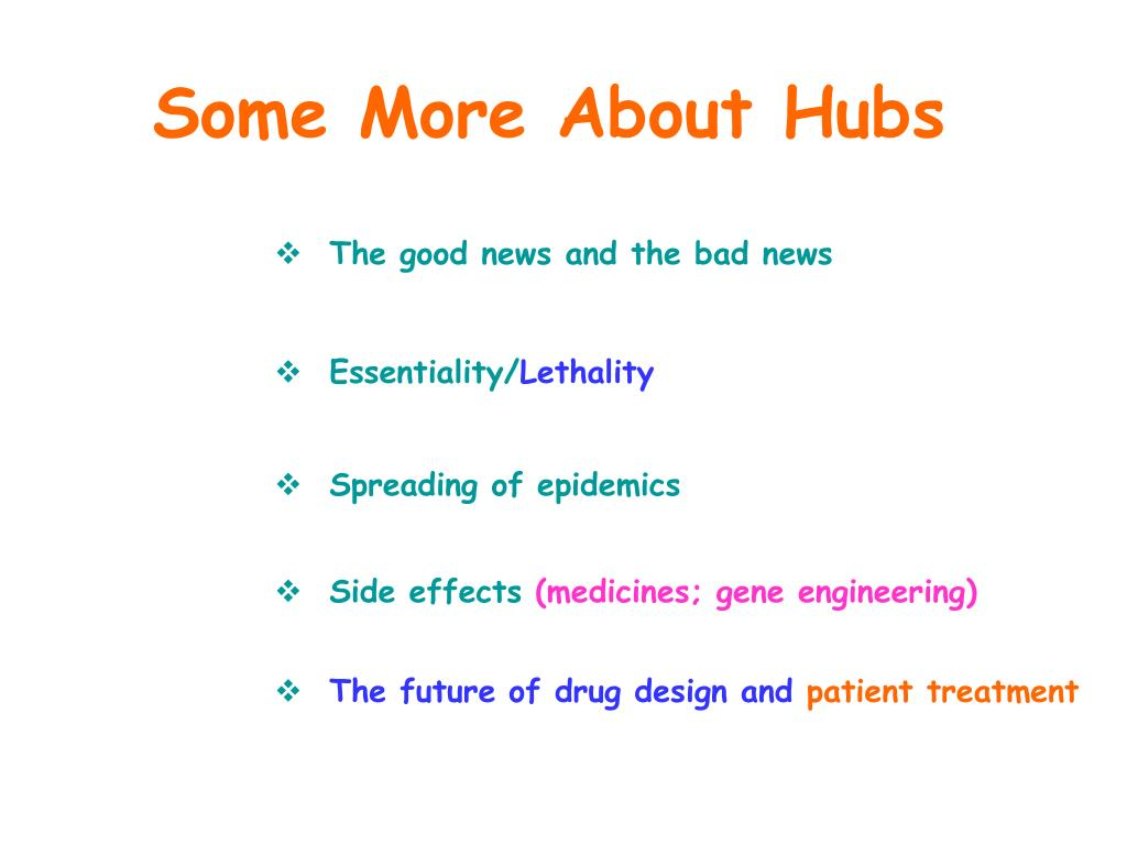 Some More About Hubs