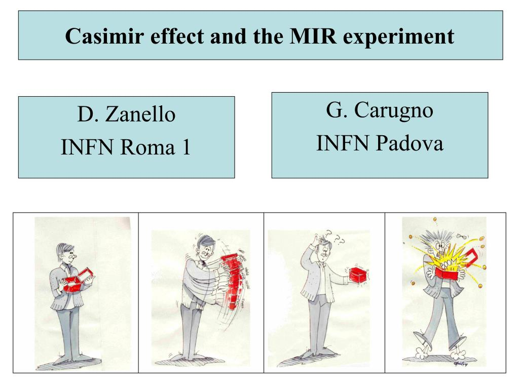 casimir effect and the mir experiment