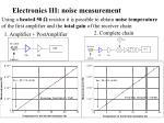 electronics iii noise measurement