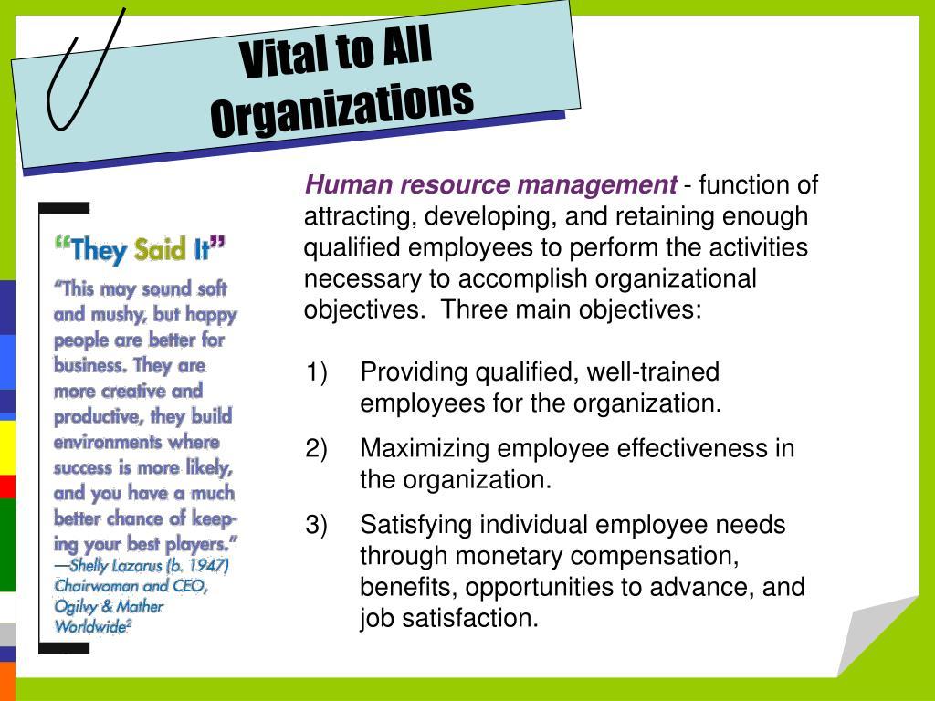 Vital to All Organizations